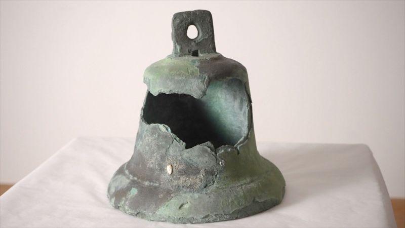 La campana del carabela La Santa María de la expedición de Cristóbal Colón al Nuevo Mundo.