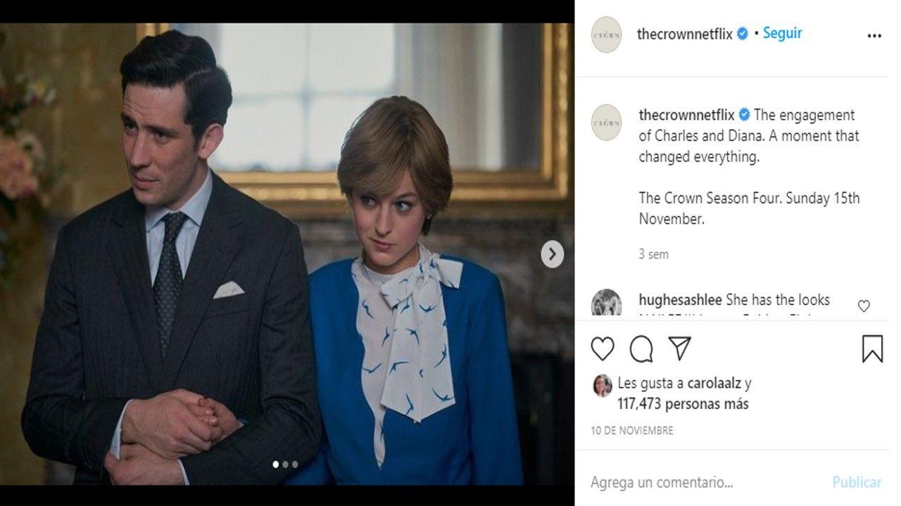 Una de las escenas de la cuarta temporada de The Crown, de Netflix.