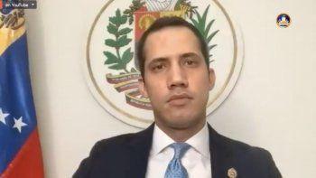 El presidente encargado Juan Guaidó durante una conferencia de prensa online el sábado 13 de junio de 2020, transmitida a través deCapitolio Tv, en YouTube.