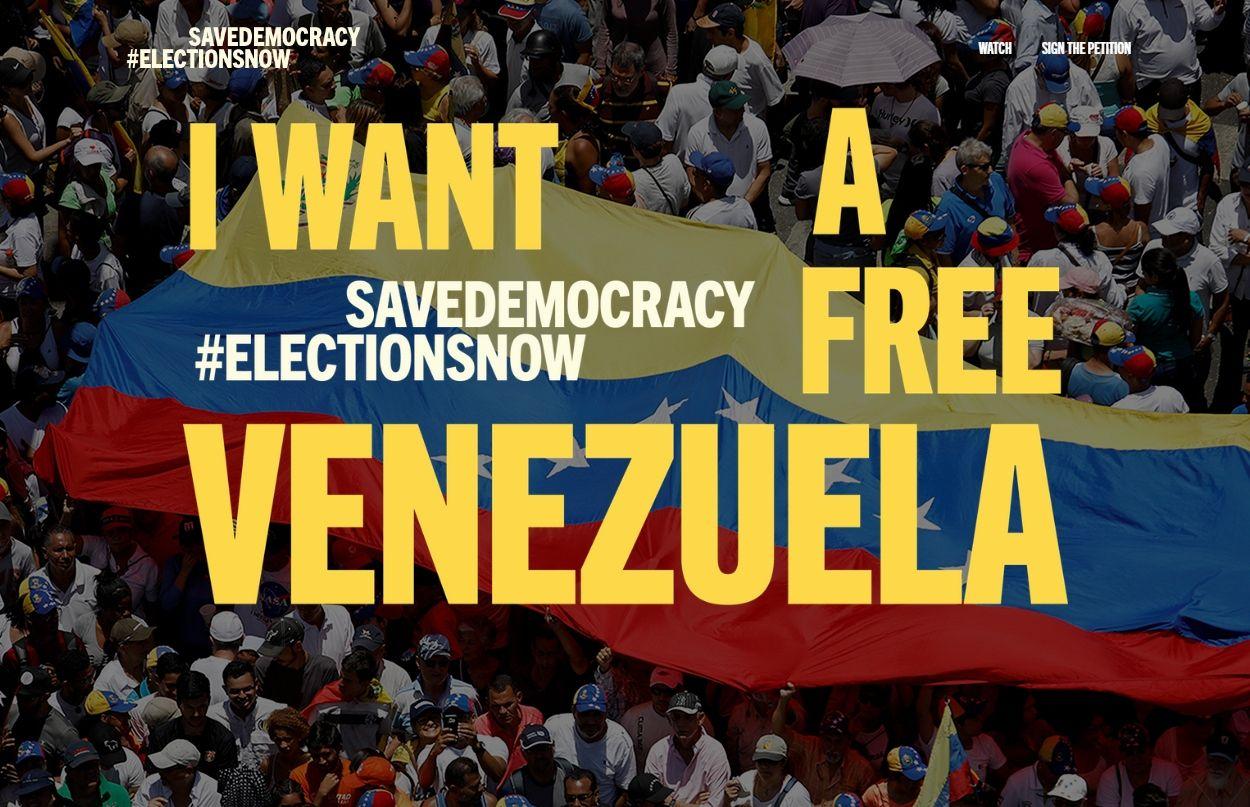 Captura de pantalla de la página web de la plataforma Save Democracy.