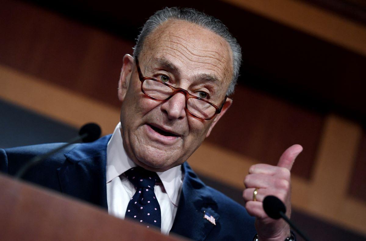 El líder demócrata en el Senado Chuck Schumer.