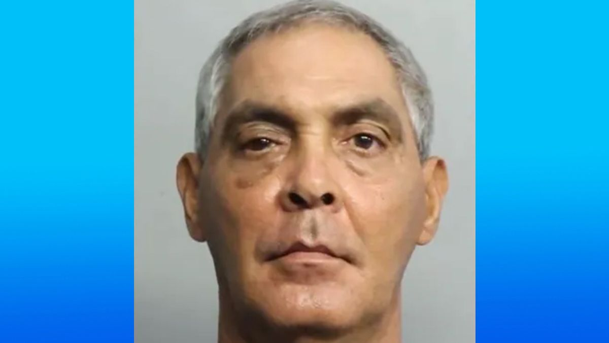 Jorge Aguilera, cubano arrestado en Hialeah.