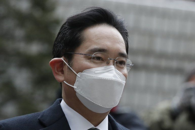 El vicepresidente de Samsung Electronics Lee Jae-yong llega al Alto Tribunal de Seúl en Seúl