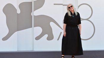 La directora neozelandesa Jane Campion llega para la proyección de la película El poder del perro presentada en competición durante el 78 Festival de Cine de Venecia, el 2 de septiembre de 2021 en el Lido de Venecia.