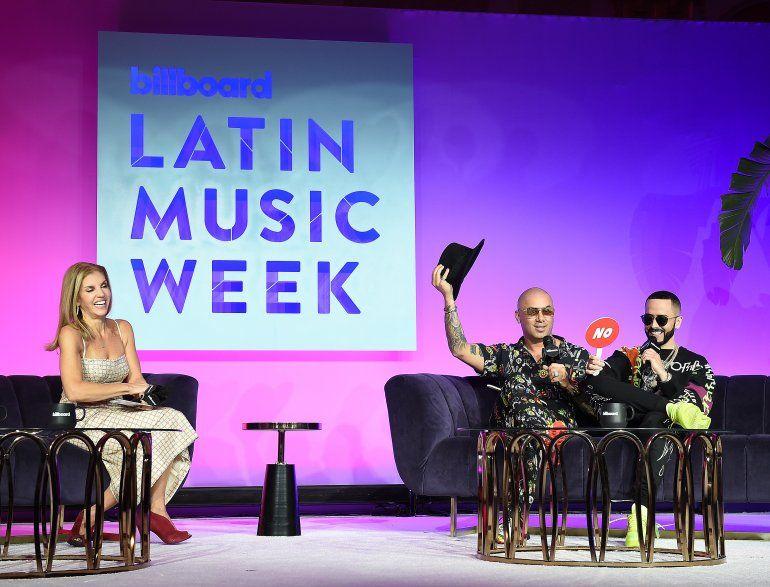 Leila Cobo junto a Wisin y Yandel. Billboard anunció su regreso a Miami para Billboard Latin Music Week (la Semana de la Música Latina de Billboard) del 20 al 25 de septiembre de 2021.