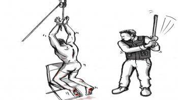 Este método consiste en golpear a la víctima reiteradamente en las plantas de los pies, con varas de madera o metal, estando las personas en distintas posiciones como arrodillados en una silla, colgados boca abajo o acostados.