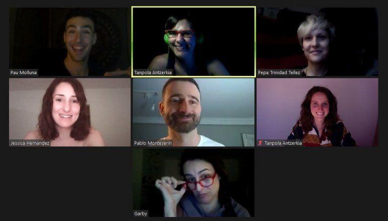 Durante una sesión de video chat