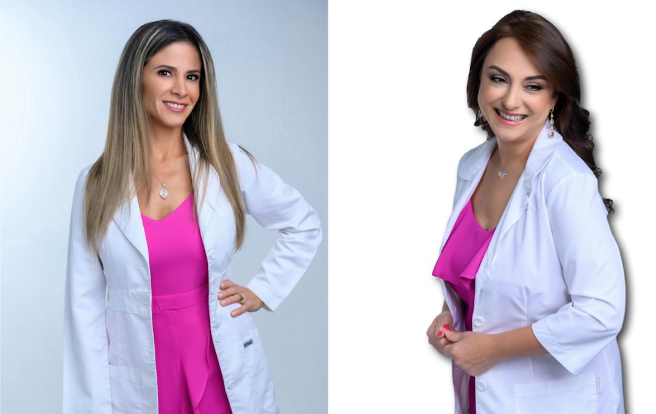 Las doctoras Klara Senior y Sofía Herrera, médico antienvejecimiento y ginecóloga, respectivamente.
