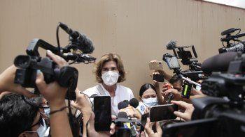 La opositora Cristina Chamorro fue arrestada el miércoles después de que un tribunal de Managua emitiera una orden de allanamiento y detención