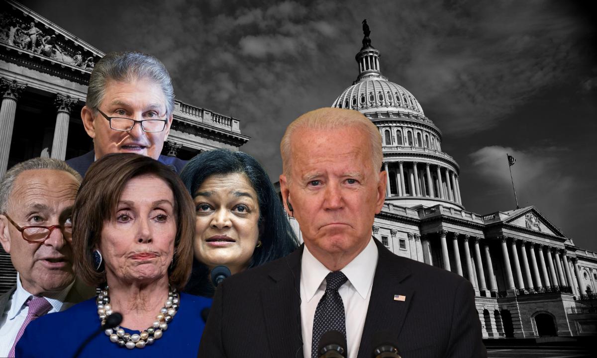 Demócratas y Biden negocian intensamente para salvar ambiciosa agenda