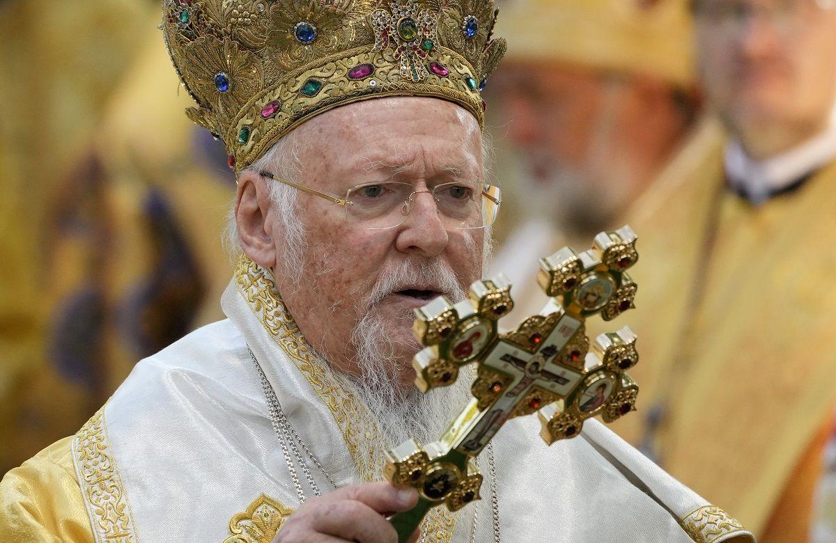 Foto tomada el 22 de agosto del 2021 del patriarca ecuménico Bartolomeo en Kiev, Ucrania.