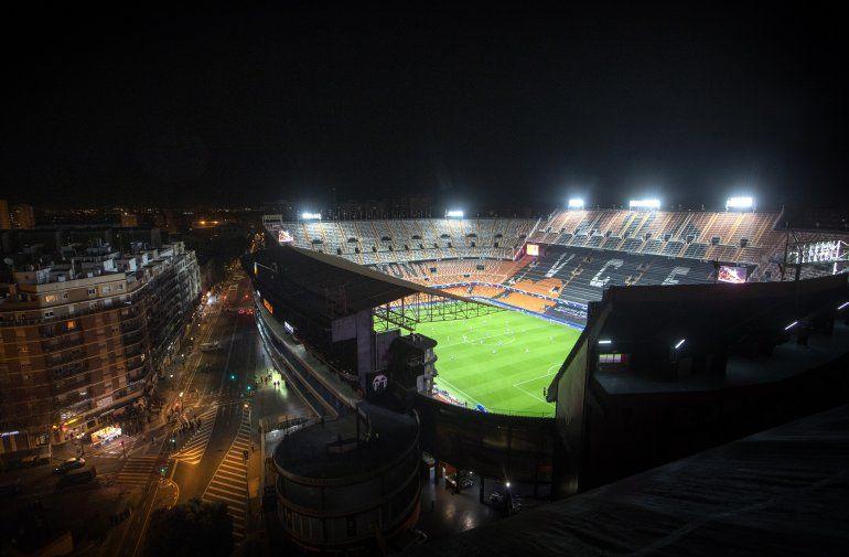 Vista del estadio Mestalla de Valencia