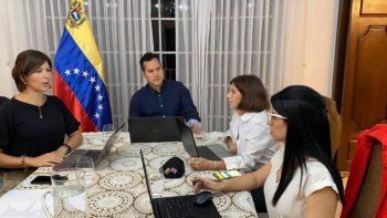Embajadores que representan los intereses de Venezuelay al gobierno legítimo del presidente Juan Guaidó en Centroamérica se reunieron en Tegucigalpa.