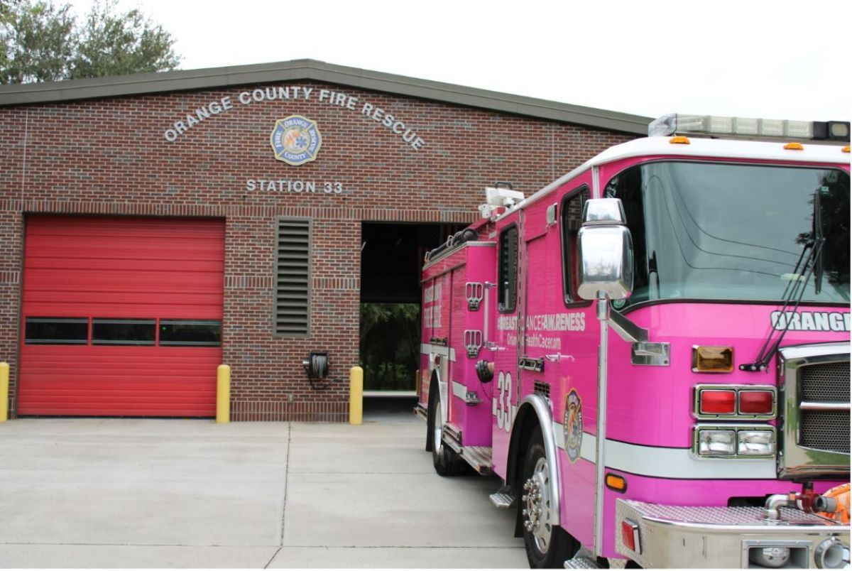Vista parcial de una de las estación de bombero en el Condado Orange.