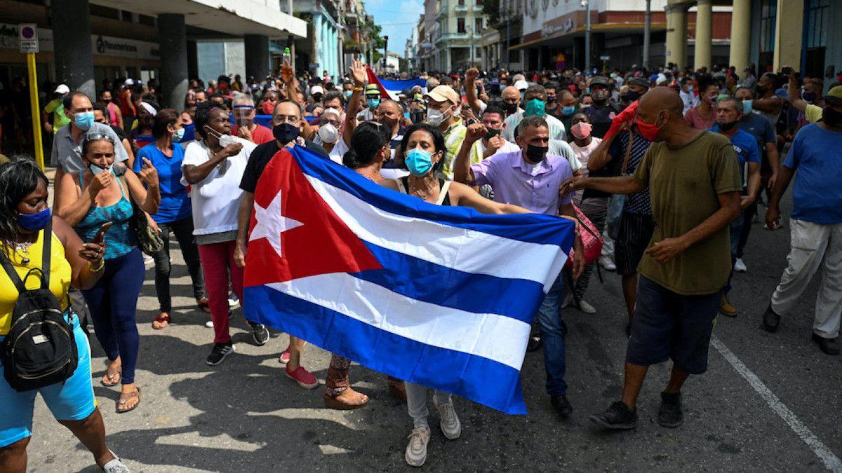 Manifestación en Cuba.