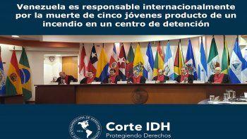 La CorteIDH determinó en el fallo que el régimen de Maduro incurrió en violaciones a los derechos a la vida, a la integridad personal y a los derechos del niño en perjuicio de los cinco jóvenes que murieron en el incendio en el Centro de Tratamiento y Diagnóstico Monseñor Juan José Bernal, estando bajo custodia del Estado.