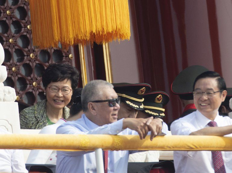 La jefa de gobierno de Hong Kong