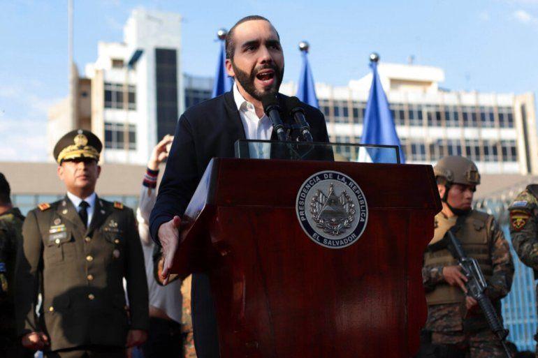 el presidente de El Salvador Nayib Bukele