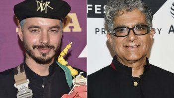 En esta combinación de fotos, J Balvin, a la izquierda, llega a los Footwear News Achievement Awards en Nueva York el 3 de diciembre de 2019, y Deepak Chopra asiste a una función especial de Religion of Sports durante el Festival de TV de Tribeca en Nueva York, el 22 de septiembre de 2017.