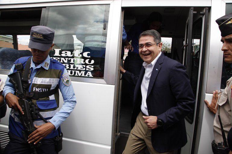 Fotografía de archivo fechada el 11 de marzo de 2019 del presidente hondureño