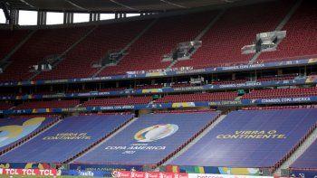 Las gradas del Estado Nacional Mané Garrincha de Brasilia previo al partido inaugural de la Copa América, entre Brasil y Venezuela, el domingo 13 de junio de 2021
