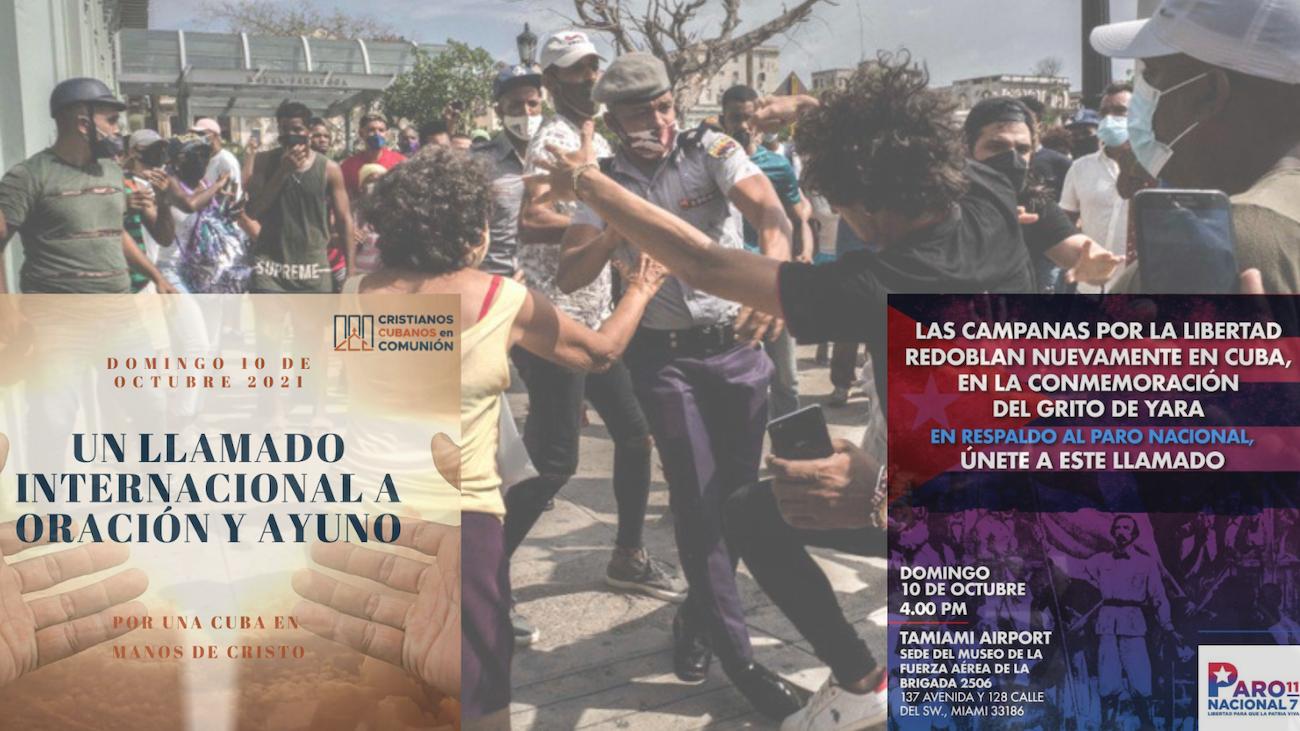 Miami: apoyan oración por Cuba y paro nacional en la isla.