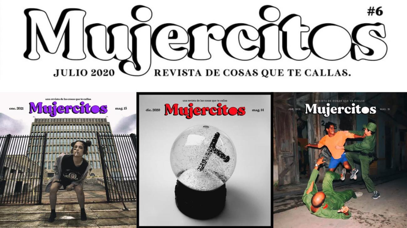 Algunas de las portadas de la revista del Colectivo Mujercitos.
