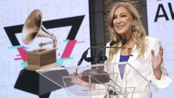 En esta foto de archivo del 20 de noviembre de 2019, la presidenta y directora ejecutiva de la Academia de la Grabación, Deborah Dugan, participa en una conferencia de prensa en la que se anunciaron los nominados al Grammy, en Nueva York.