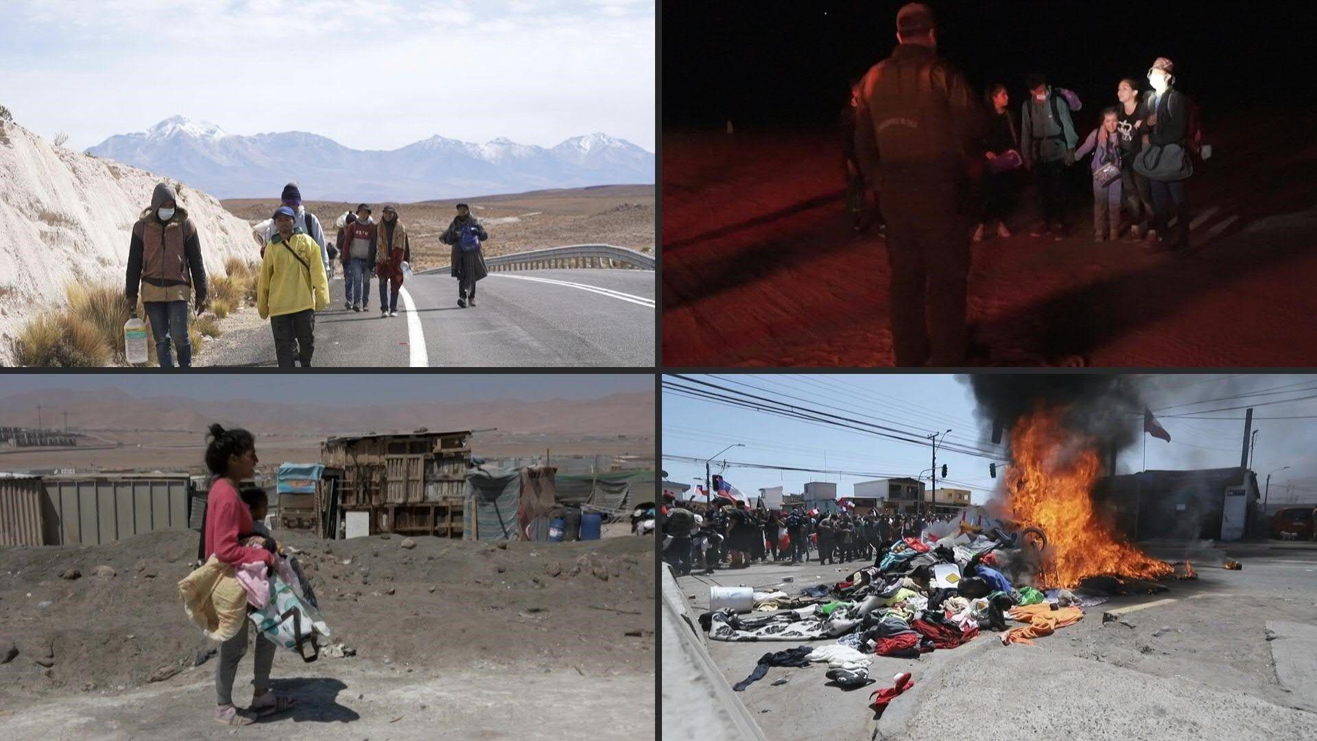 Venezolanos cruzan el desierto de Atacama con la esperanza de construir un futuro en Chile.