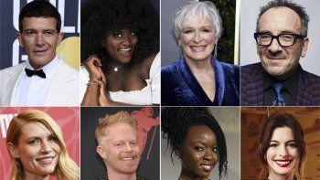 Antonio Banderas, Anne Hathaway y John Leguizamo aparecen en esta combinación de fotos entre otras de las celebridades que participarán en la gala a beneficio de The Public Theater.