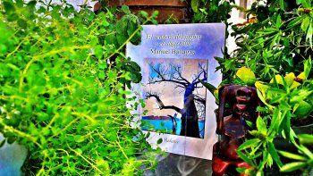 En el libro El sendero del jagüey y el algarrobo encontramos seres del monte que se adentran en lo cotidiano, un guajiro que vuela y se convierte en majá, despedidas, exilios y traiciones bien vengadas.