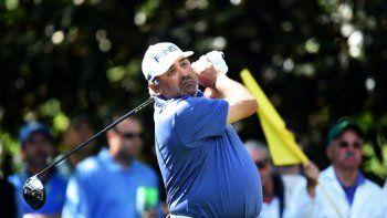 En esta foto de archivo tomada el 7 de abril de 2016, el argentino Angel Cabrera durante la Ronda 1 del 80 ° Torneo de Golf Masters en el Augusta National Golf Club en Augusta, Georgia