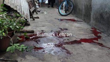 Las manchas de sangre de una de las víctimas que fue tiroteada por la Policía del régimen de Daniel Ortega, la madrugada de 17 de julio de 2019,en la ciudad de León, Nicaragua.