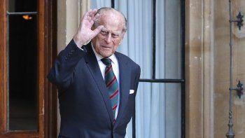 En esta foto de archivo tomada el 22 de julio de 2020, el príncipe Felipe de Gran Bretaña, duque de Edimburgo, participa en el traslado del coronel en jefe de The Rifles en el castillo de Windsor en Windsor.