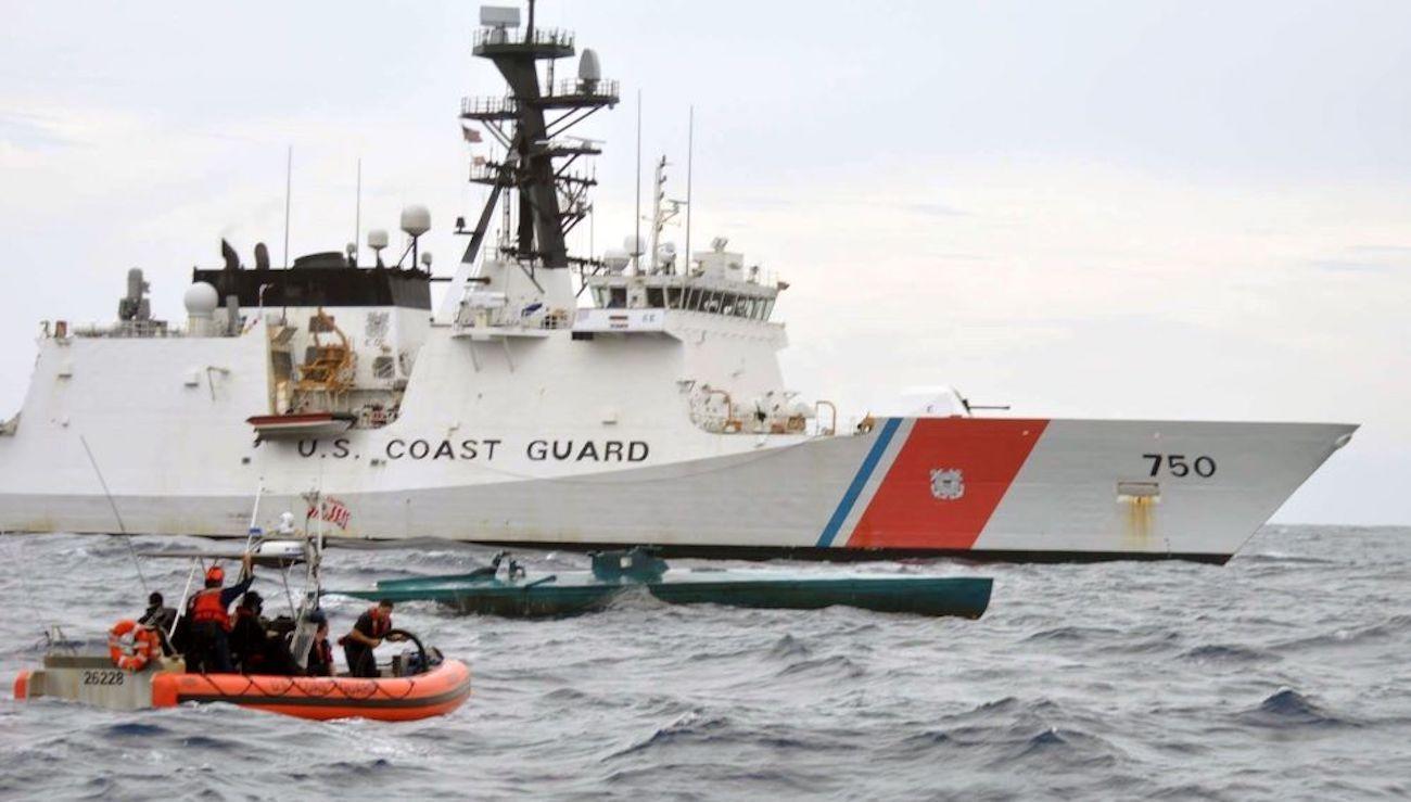 Un buque de la Guardia Costera de Estados Unidos.