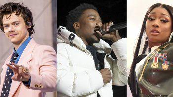 En esta combinación de fotografías The Weeknd, Harry Styles, Roddy Ricch y Megan Thee Stallion, quienes podrían ser nominados a los Grammy 2021. Las nominaciones serán anunciadas el 24 de noviembre de 2020.