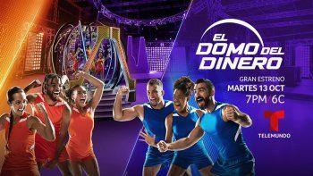 El domo del dinero, conducido por Zuleyka Rivera y Karim Mendiburu, presenta a los 20 competidores que se unen al primer programa original de competencia deTelemundo.