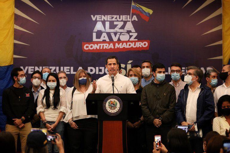 EL presidente (e) de Venezuela Juan Guaidó.