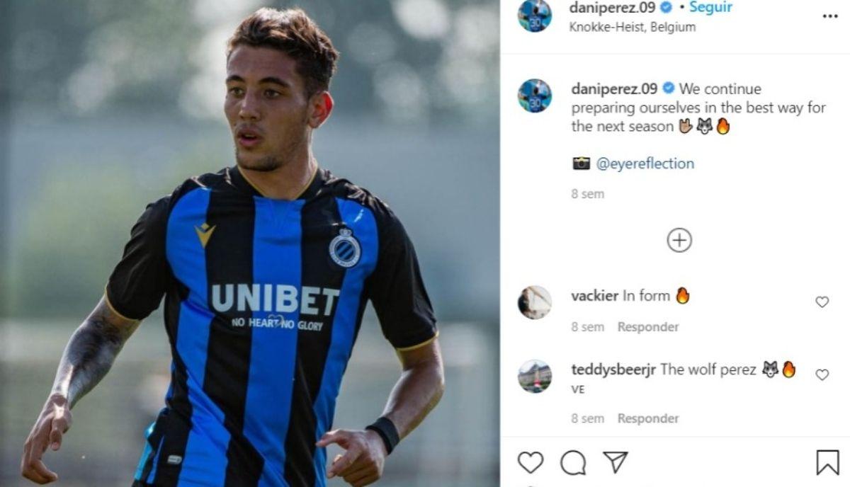 El venezolano Daniel Pérez fue contratado por Club Brugge de Bélgica en enero de 2021