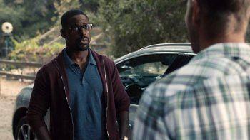 En esta imagen difundida por NBC, Sterling K. Brown en una escena de This Is Us. La quinta temporada de la serie se estrena el martes, 27 de octubre, y abordará la pandemia y el movimiento Black Lives Matter.