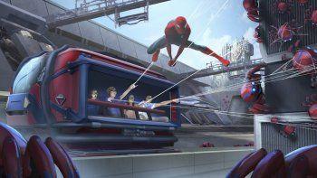 En esta ilustración difundida por Disneyland Resort, un concepto para la atracción Spider-Man Adventure en el próximo Avengers Campus de Disney California Adventure Park en Anaheim, California.