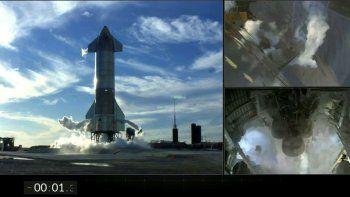 En esta captura del video publicado en la página de Twitter de SpaceX se muestran diferentes tomas de la nave Starship de SpaceX justo antes de que se presentara una suspensión automática de motor con apenas 1,3 segundos restantes en la cuenta regresiva antes del despegue del primer vuelo de prueba de gran altura de la nave, el martes 8 de diciembre de 2020, en el sureste de Texas.