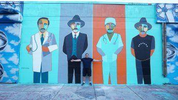 Un Beato enWynwoodes el nombre de la nuevaobrade gran tamaño del artistaEduardo Edo Sanabriaen el Distrito del Arte de Wynwood en la ciudad de Miami.