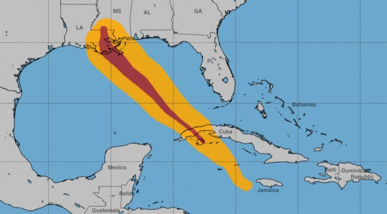 Trayectoria del huracán Ida.
