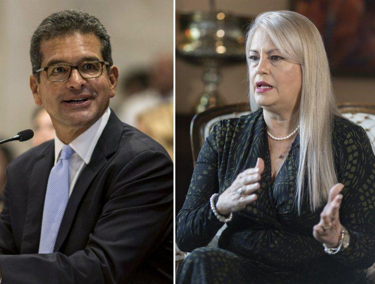 Esta combinación de dos fotos muestra a Pedro Pierluisi y Wanda Vázquez