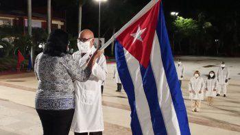 Foto publicada por el canciller de la dictacura cubana, Bruno Rodríguez, para anunciar el envío de brigadas médicas a varias islas del Caribe, el 26 de junio de 2020.