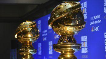 En esta foto del 9 de diciembre del 2019, réplicas de los Globos de Oro durante el anuncio de los nominados a la 77 edición anual de estos premios en Beverly Hills, California.