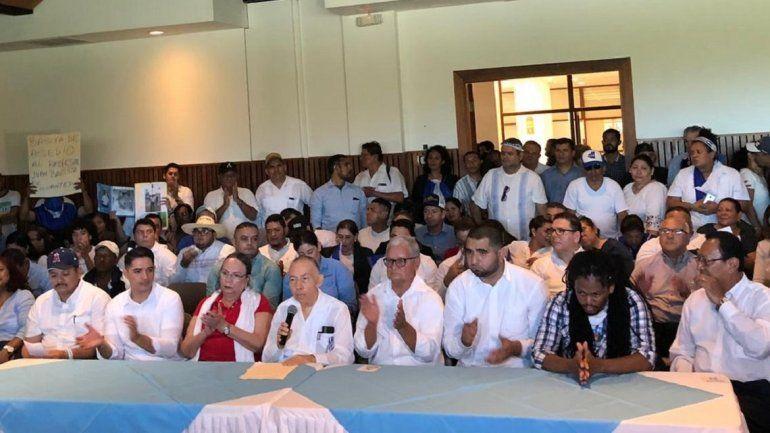 Integrantes de la Coalición Nacional que se han agrupado para participar en las elecciones de 2021 junto al dictador Daniel Ortega