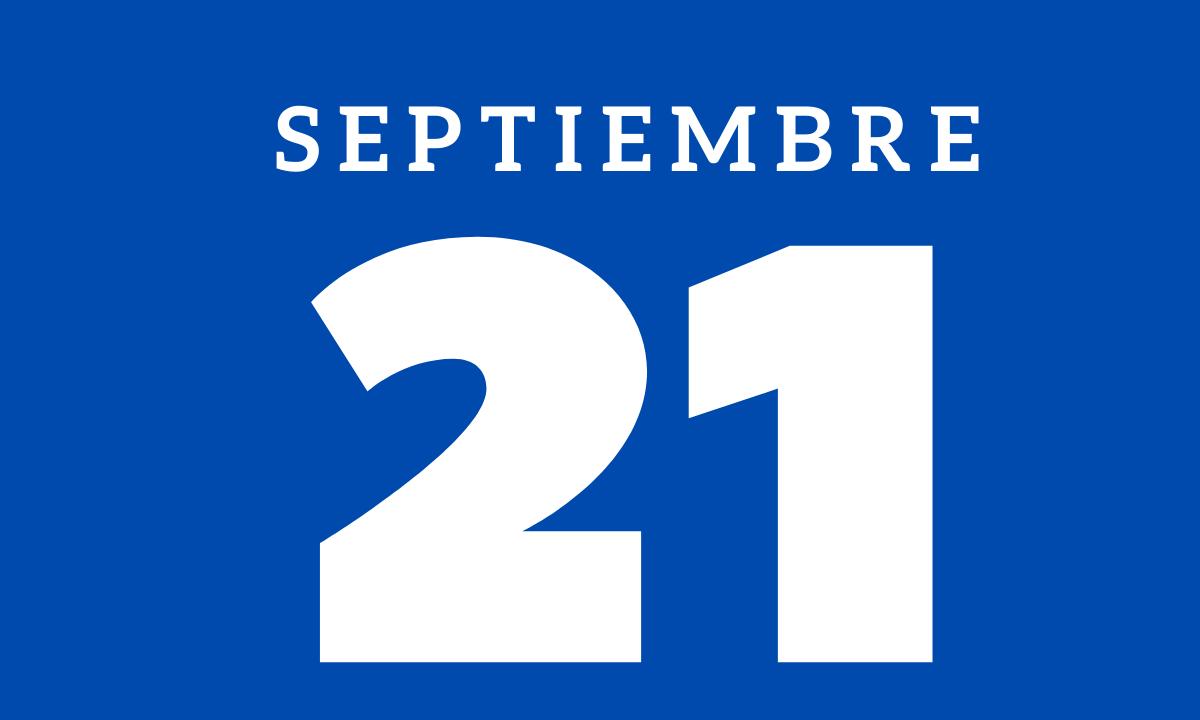 10 hechos relevantes ocurridos un 21 de septiembre