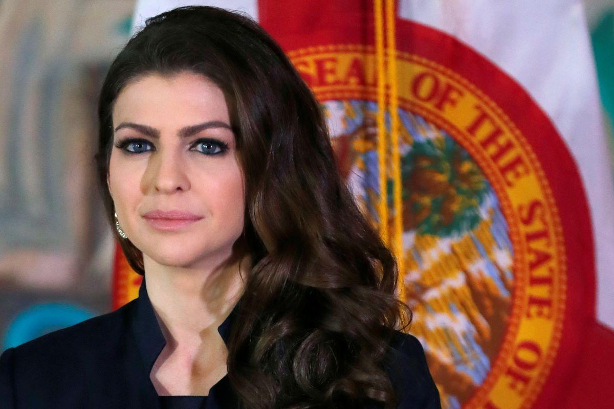 La primera dama de Florida, Casey DeSantis, en un evento en Miami.